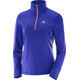 Salomon Trail Runner Warm Mid Shirt Women spectrum blue